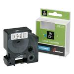 "AbilityOne 7510016577786, Dymo/SKILCRAFT Label Cassette, 0.75"" x 23 ft, Black/White Product Image"