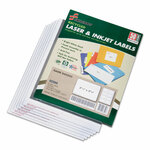 AbilityOne 7530015789299 SKILCRAFT Recycled Laser and Inkjet Labels, Inkjet/Laser Printers, 2.33 x 3.38, White, 8/Sheet, 50 Sheets/Box Product Image