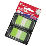 """AbilityOne 7510013991152 SKILCRAFT Page Flags, 1"""" x 1 3/4"""", Bright Green, 100/Pack Product Image"""