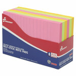 AbilityOne 7530014181212 SKILCRAFT Self-Stick Note Pads, 4 x 6, Ruled, Assorted Neon Colors, 6/Pack Product Image