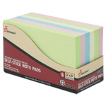 AbilityOne 7530014560683 SKILCRAFT Self-Stick Note Pad Set, 3 X 5 in, Unruled, Assorted Colors Product Image