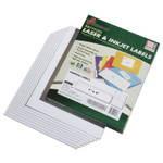 AbilityOne 7530015144913 SKILCRAFT Recycled Laser and Inkjet Labels, Inkjet/Laser Printers, 1 x 4, White, 20/Sheet, 100 Sheets/Box Product Image