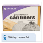 """AbilityOne 8105015171365, SKILCRAFT High Density Trash Can Liner, 16 gal, 8 microns, 24"""" x 33"""", Natural, 1,000/Carton Product Image"""