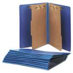 AbilityOne 7530015567914 SKILCRAFT Pressboard Top Tab Classification Folder, 2 Dividers, Letter Size, Dark Blue, 10/Box Product Image