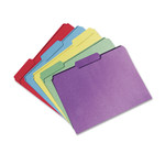 AbilityOne 7530015664138 SKILCRAFTRecycled File Folders, 1/3-Cut 1-Ply Tabs, Letter Size, Assorted, 100/Box Product Image