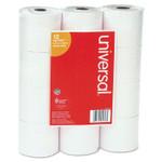 "Universal Impact & Inkjet Print Bond Paper Rolls, 0.5"" Core, 2.25"" x 130 ft, White, 12/Pack Product Image"