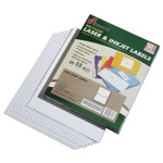AbilityOne 7530015789298 SKILCRAFT Recycled Laser and Inkjet Labels, Inkjet/Laser Printers, 8.5 x 11, White, 100/Box Product Image
