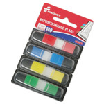 """AbilityOne 7510016200283 SKILCRAFT Page Flags, 1/2"""" x 1 3/4"""", Assorted, 140/Pack Product Image"""