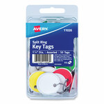 Avery Key Tags with Split Ring, 1 1/4 dia, Assorted Colors, 50/Pack Product Image