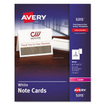 Avery Note Cards, Laser Printer, 4 1/4 x 5 1/2, Uncoated White, 60/Pack with Envelopes Product Image