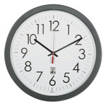 """AbilityOne 6645016238823 SKILCRAFT Self-Set Wall Clock, 14.5"""" Overall Diameter, Black Case, 1 AA (sold separately) Product Image"""
