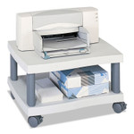 Safco Wave Design Printer Stand, Two-Shelf, 20w x 17.5d x 11.5h, Charcoal Gray Product Image
