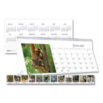 House of Doolittle Recycled Wildlife Photos Desk Tent Monthly Calendar, 8 1/2 x 4 1/2, 2018 Product Image