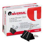 Universal Binder Clips, Large, Black/Silver, Dozen UNV10220DZ Product Image