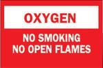 Brady Chemical  Hazardous Material Signs, Oxygen/No Smkg/No Open Flames, Plstc,Rd/Wt Product Image