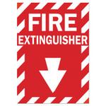 Brady Health  Safety Signs, FIRE EXTINGUISHER, Polyester Sticker Product Image