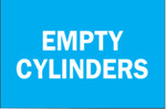 Brady Chemical  Hazardous Material Signs, Empty Cylinders, Plastic, Blue/White Product Image