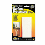 """Master Caster Scratch Guard Surface Protectors, 0.75"""" dia, Circular, Clear, 20/Pack Product Image"""