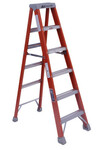 Louisville Ladder FM1500 Series Fiberglass Twin Front Ladder, 4 ft x 18 7/8 in, 300 lb Capacity Product Image