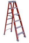Louisville Ladder FM1500 Series Fiberglass Twin Front Ladder, 6 ft x 21 7/8 in, 300 lb Capacity Product Image