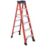 Louisville Ladder FS1400HD Series Brute 375 Fiberglass Step Ladder, 6 ft x 21 7/8 in, 375 lb Cap. Product Image