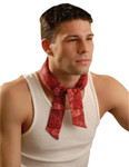 OccuNomix MiraCool Neck Bandanas, 1-11/16 in W x 34.75 in L, Cowboy Red Product Image