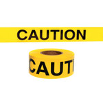 Presco Barricade Tape, 3 in x 1000 ft, 4 mil, Yellow, CAUTION Product Image
