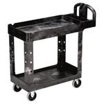 RUBBERMAID COMMERCIAL PROD. Heavy-Duty Utility Cart, Two-Shelf, 17-1/8w x 38-1/2d x 38-7/8h, Black Product Image