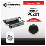 Innovera Compatible Black Thermal Transfer Print Cartridge, Replacement for Brother PC201, 450 Page-Yield Product Image