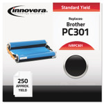 Innovera Compatible Black Thermal Transfer Print Cartridge, Replacement for Brother PC301, 250 Page-Yield Product Image
