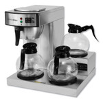 Coffee Pro Three-Burner Low Profile Institutional Coffee Maker, Stainless Steel, 36 Cups Product Image