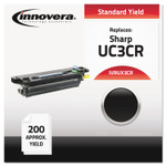 Innovera Compatible Black Thermal Transfer Print Cartridge, Replacement for Sharp UX3CR, 100 Page-Yield, 2/Box Product Image
