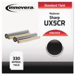 Innovera Compatible Black Thermal Transfer Print Cartridge, Replacement for Sharp UX5CR, 165 Page-Yield, 2/Box Product Image