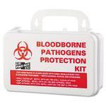 "Pac-Kit Small Industrial Bloodborne Pathogen Kit, Plastic Case, 4.5""H x 7.5""W x 2.75""D Product Image"