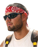 Ergodyne Chill-Its 6700 Evaporative Cooling Bandanas, 8 in X 13 in, Red Western Product Image