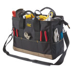 CLC Custom Leather Craft BigMouth Tool Tote Bags, 22 Compartment, 8 1/2w x 16d x 10h Product Image