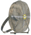 Airmaster Fan Company High Velocity Low Stand Fans, Swivel, Yoke Mount, 18 in, 1/8 hp, 3-Speed Product Image