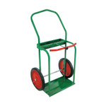 """Anthony High-Rail Frame Dual-Cylinder Cart, For 9.5"""" Cylinders, 14"""" Solid Rubber Wheels Product Image"""