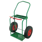 """Anthony High-Rail Frame Dual-Cylinder Cart, For 9.5"""" Cylinders, 16"""" Pneumatic Wheels Product Image"""