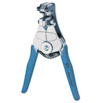 Ideal Industries Wire Strippers, 7 1/4 in, 10-22 AWG, 1/11;1/14;1/21;18/125;2/33;6/53 in, Blue Product Image