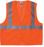 Ergodyne GloWear 8210HL Class 2 Economy Vests w/Pocket, Hook/Loop Closure, L/XL, Orange Product Image