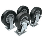 Apex Tool Group Heavy-Duty Casters, 6 in, 2 Fixed; 2 Swivel Product Image