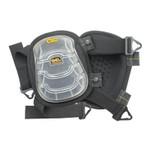 CLC Custom Leather Craft Gel-Tek Stabili-Cap Kneepads, Nylon Elastic Strap, Black Product Image