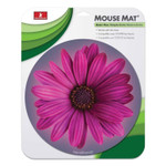 HandStands Handstands Round Flower Mouse Mat, 9 x 11 x 0.17, Multicolor Product Image