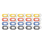 Advantus Key Tags Label Window, 0.88 x 0.19 x 2, Assorted, 20/Pack Product Image