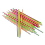 """Berkley Square Neon Sip Sticks, 5.5"""", Assorted, 1,000/Pack Product Image"""
