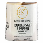 Delectables Salt and Pepper Shaker Combo, 4 oz Salt Dispenser and 1.5 oz Pepper Dispenser Product Image