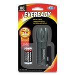 Eveready Compact LED Metal Flashlight, 3 AAA (Included), Silver Product Image