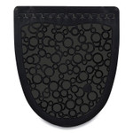 Fresh Products P-Shield Urinal Safety Mat, Wedge, 22.63 x 22.25, Black, 6/Carton Product Image