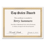 Great Papers! Foil Border Certificates, 8.5 x 11, Ivory/Gold, Braided, 15/Pack Product Image